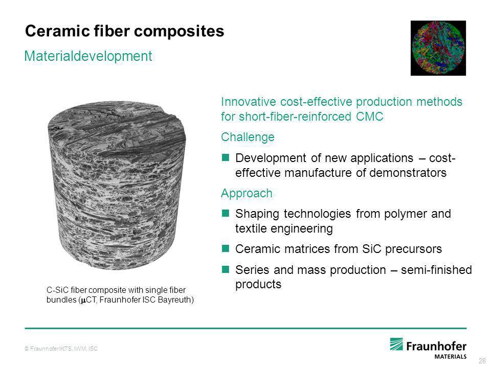 Ceramic fiber composites