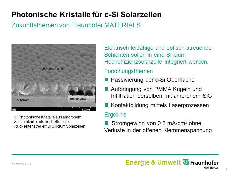 Photonische Kristalle für c-Si Solarzellen