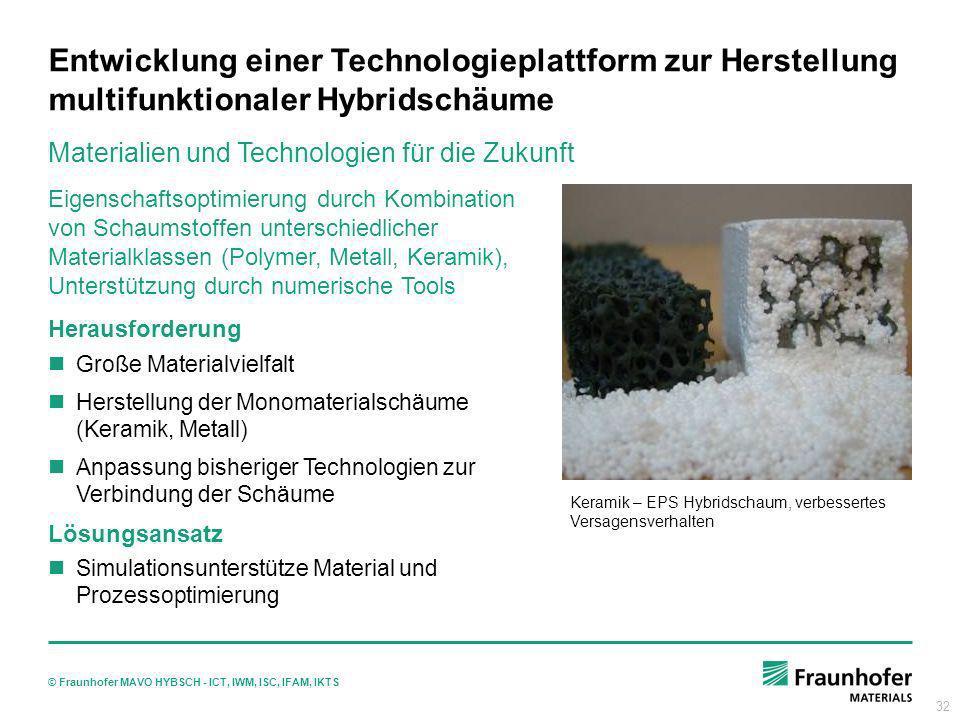 Entwicklung einer Technologieplattform zur Herstellung multifunktionaler Hybridschäume