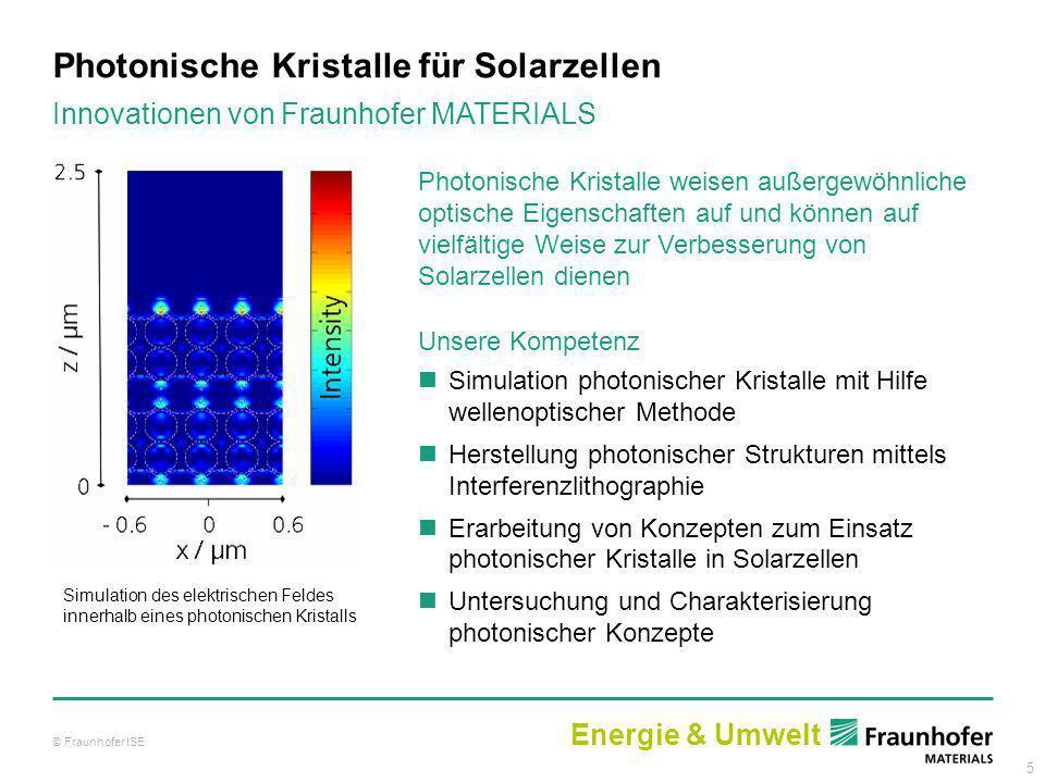 Photonische Kristalle für Solarzellen