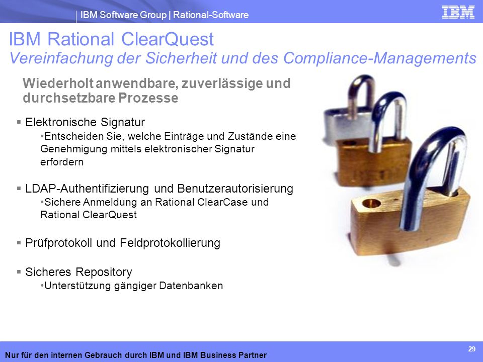 IBM Rational ClearQuest Vereinfachung der Sicherheit und des Compliance-Managements