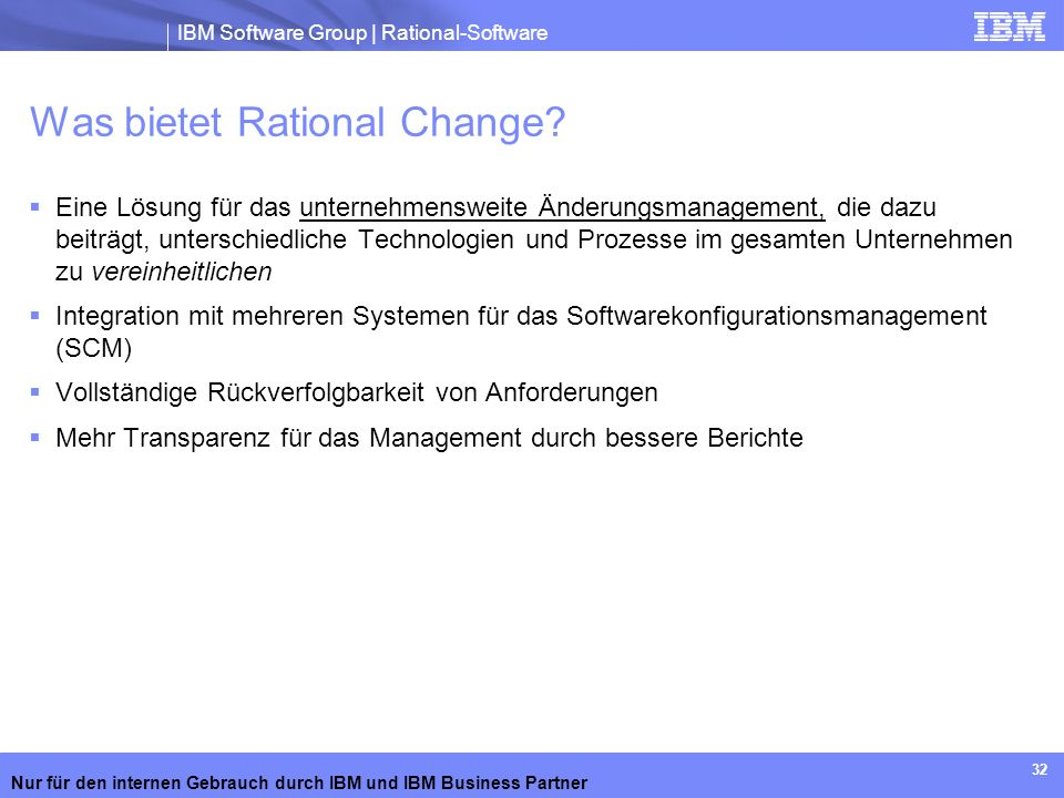 Was bietet Rational Change