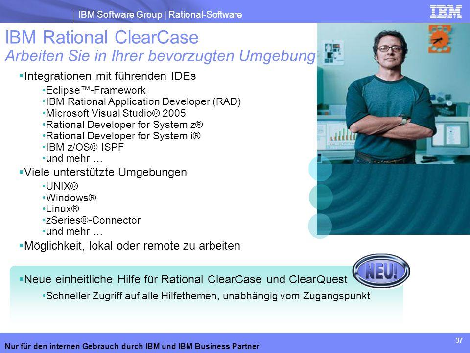 IBM Rational ClearCase Arbeiten Sie in Ihrer bevorzugten Umgebung