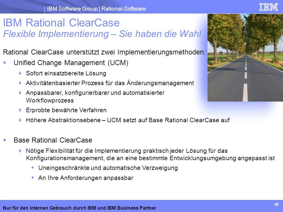 IBM Rational ClearCase Flexible Implementierung – Sie haben die Wahl