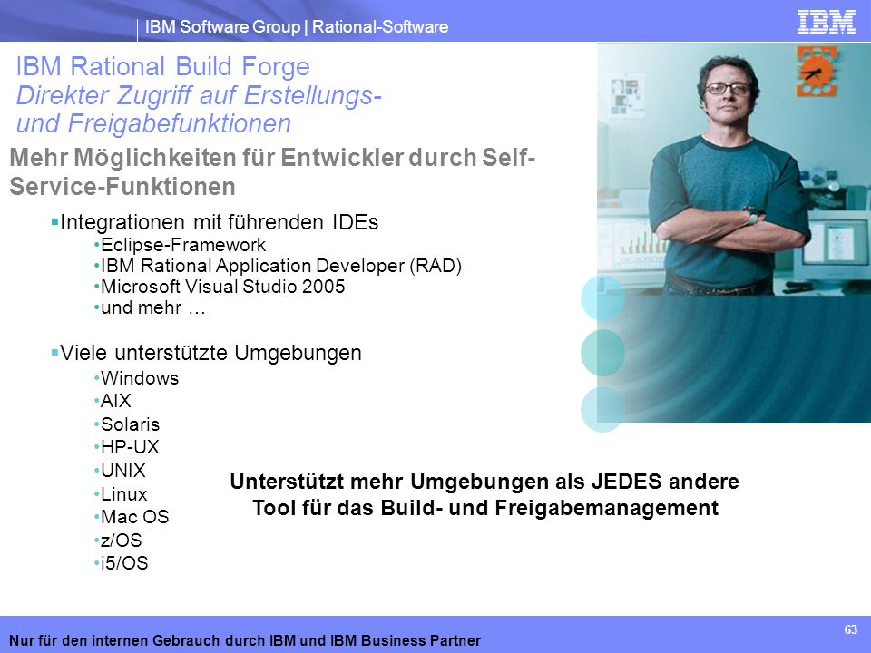 IBM Rational Build Forge Direkter Zugriff auf Erstellungs- und Freigabefunktionen