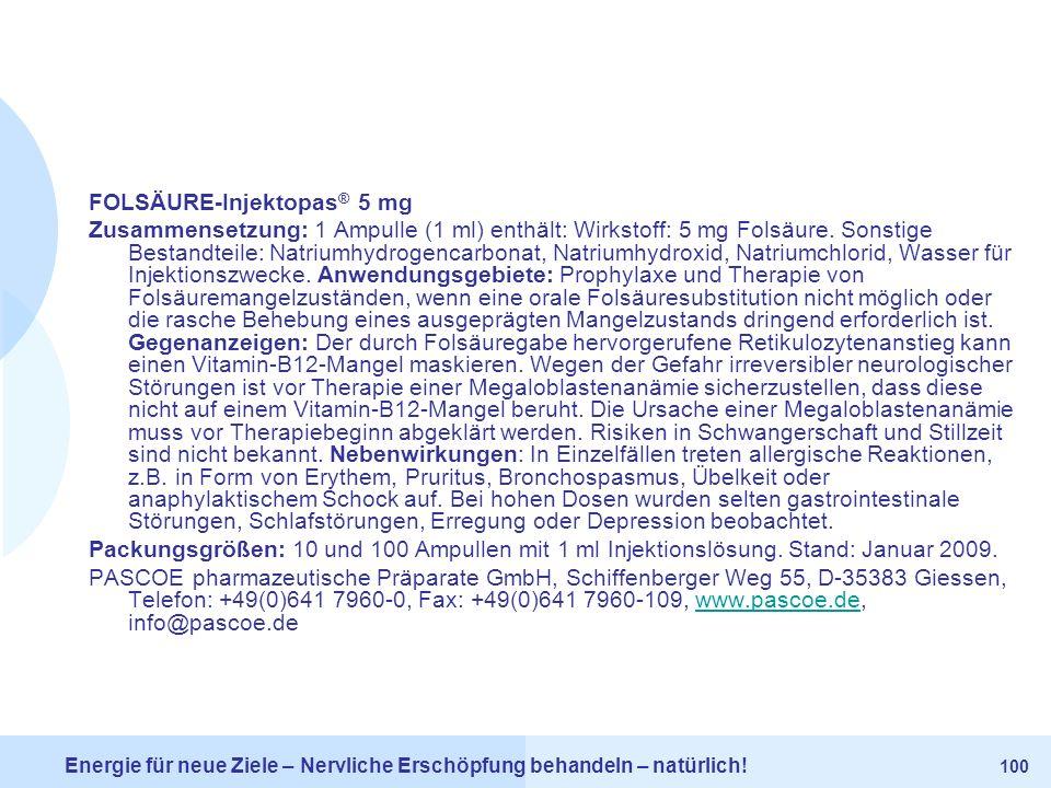 FOLSÄURE-Injektopas® 5 mg