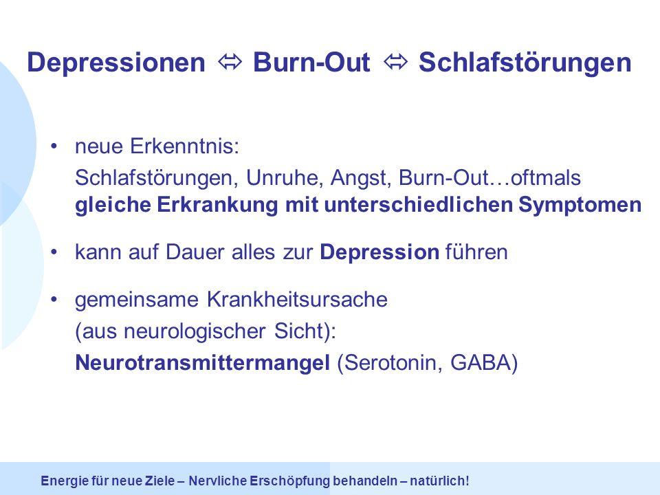 Depressionen  Burn-Out  Schlafstörungen
