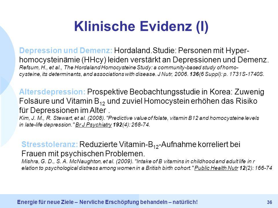 Klinische Evidenz (I) Depression und Demenz: Hordaland.Studie: Personen mit Hyper-