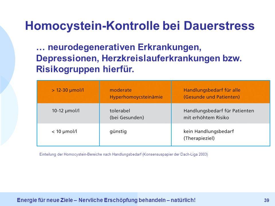 Homocystein-Kontrolle bei Dauerstress