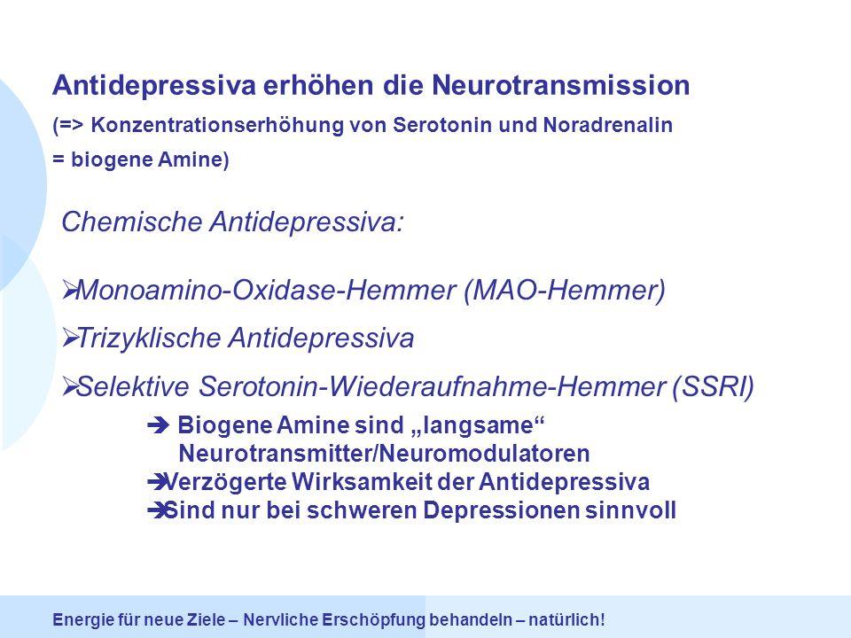 Antidepressiva erhöhen die Neurotransmission