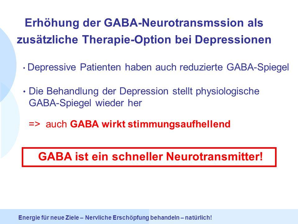 GABA ist ein schneller Neurotransmitter!