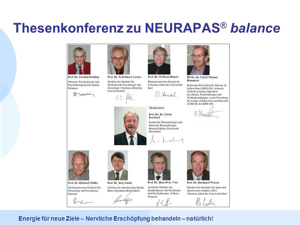 Thesenkonferenz zu NEURAPAS® balance
