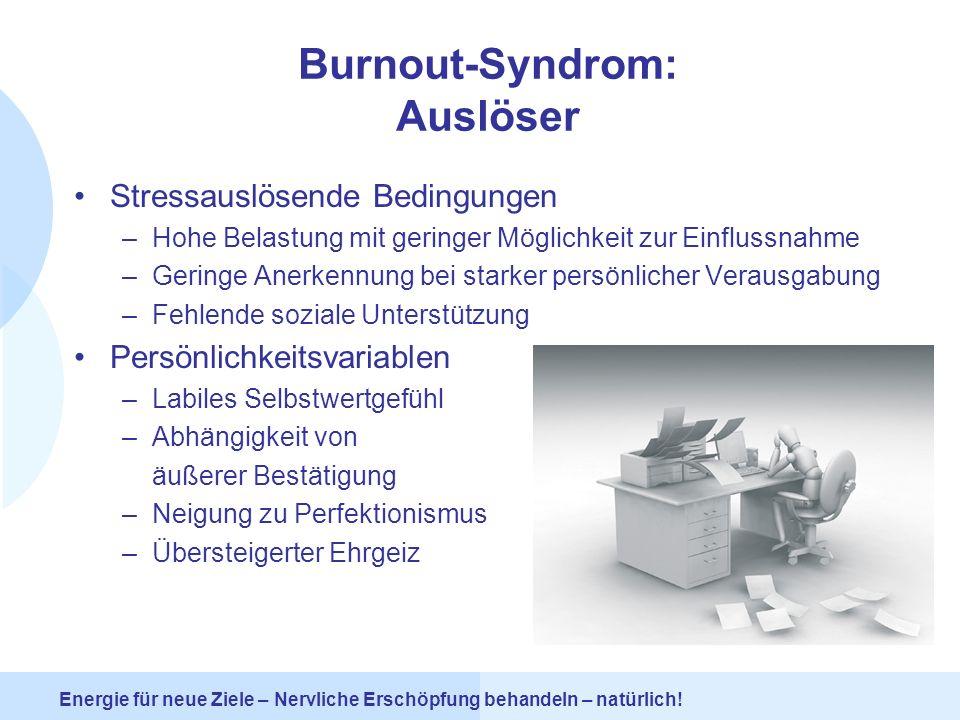 Burnout-Syndrom: Auslöser