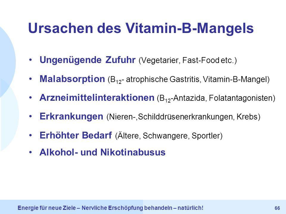 Ursachen des Vitamin-B-Mangels
