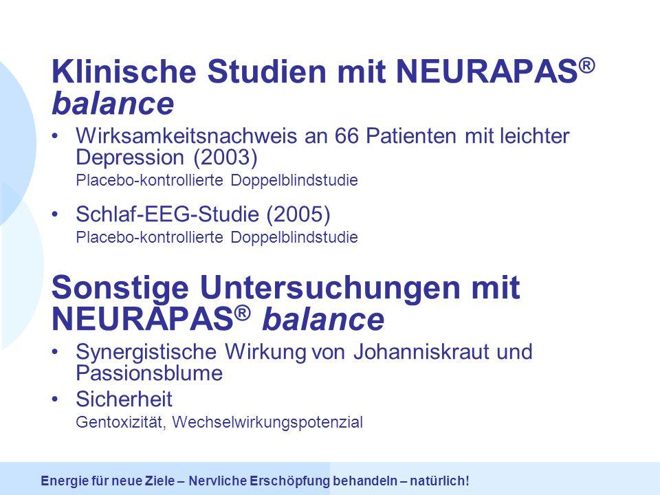 Klinische Studien mit NEURAPAS® balance