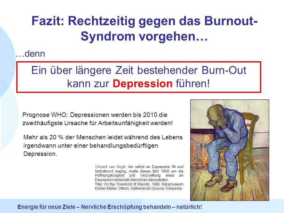 Fazit: Rechtzeitig gegen das Burnout-Syndrom vorgehen…