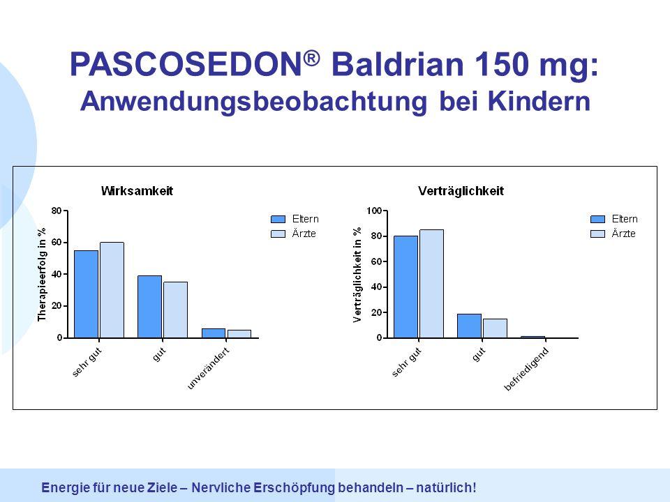 PASCOSEDON® Baldrian 150 mg: Anwendungsbeobachtung bei Kindern