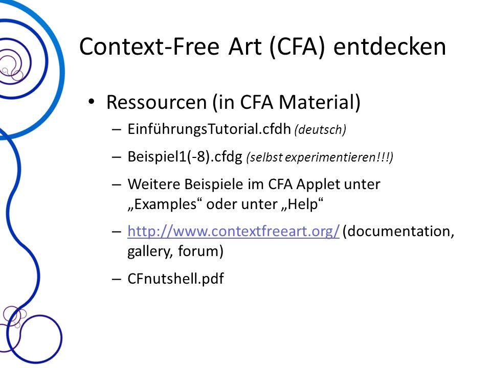 Context-Free Art (CFA) entdecken