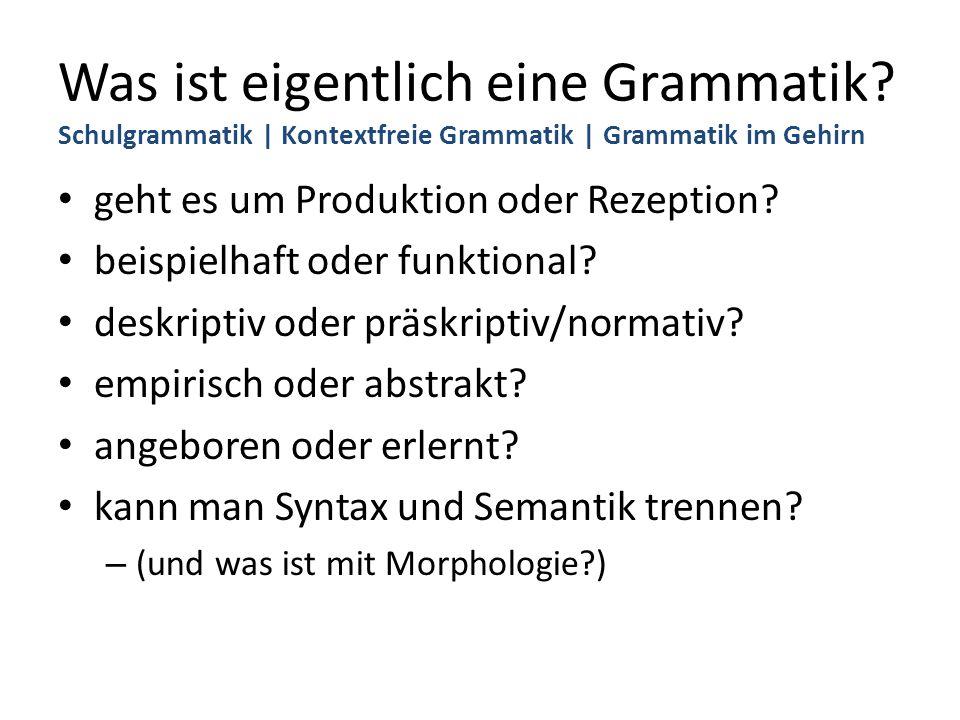 Was ist eigentlich eine Grammatik