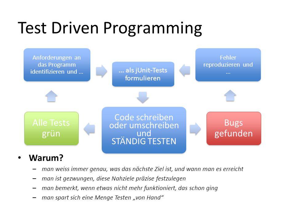 Test Driven Programming