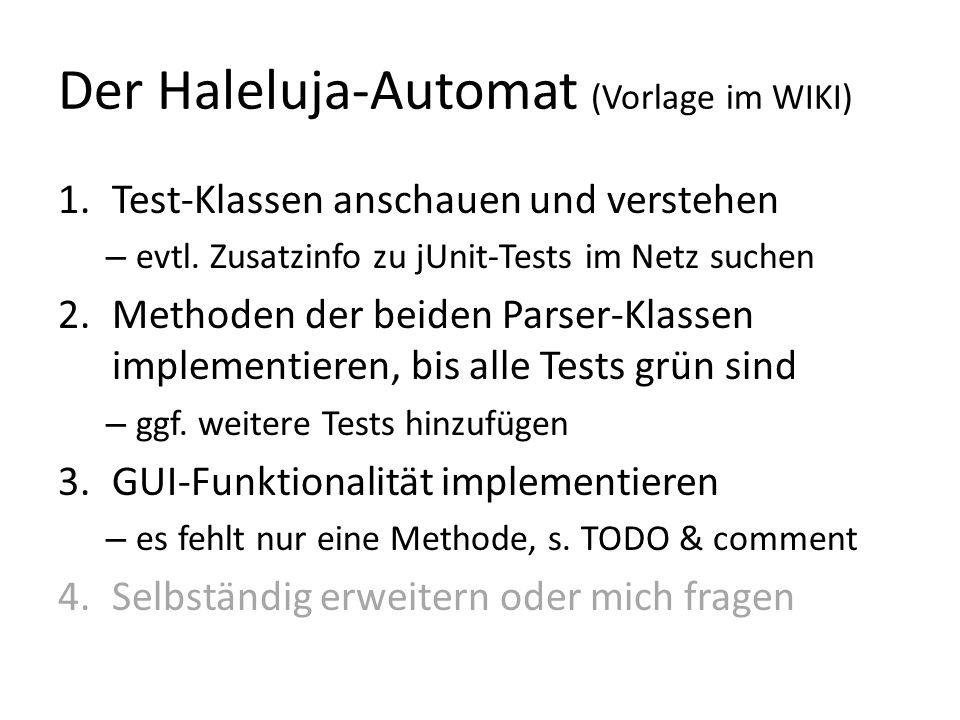 Der Haleluja-Automat (Vorlage im WIKI)