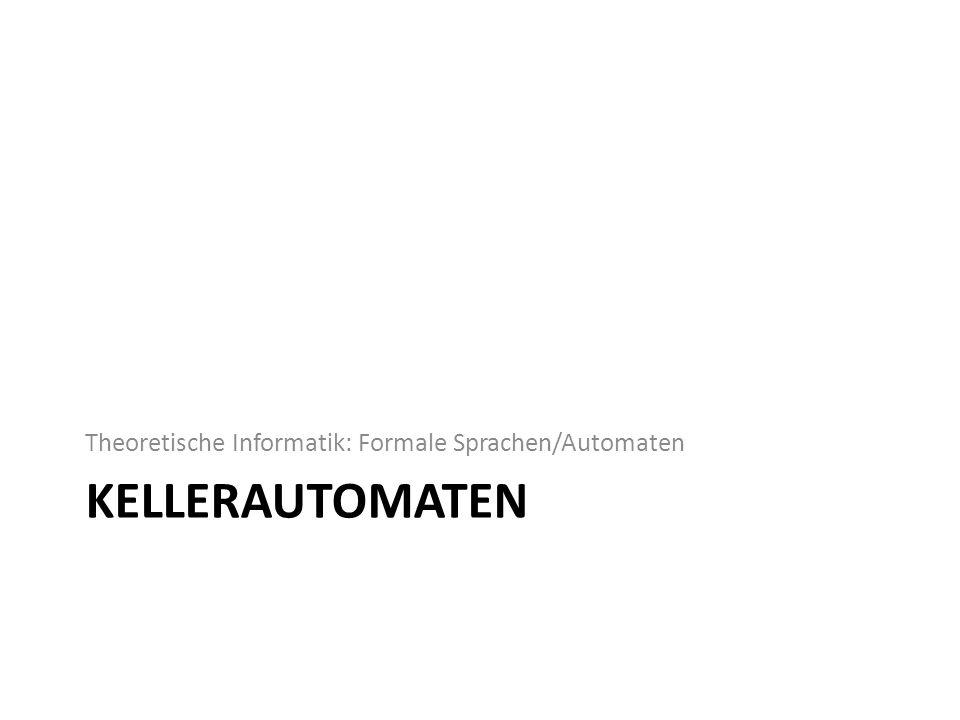 Theoretische Informatik: Formale Sprachen/Automaten