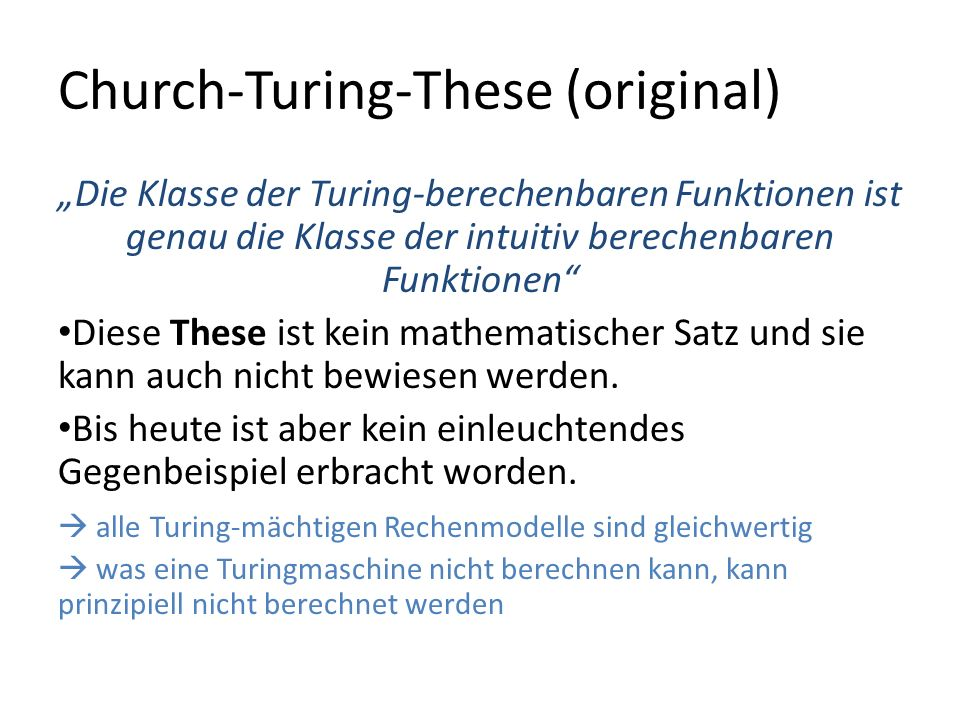 Church-Turing-These (original)