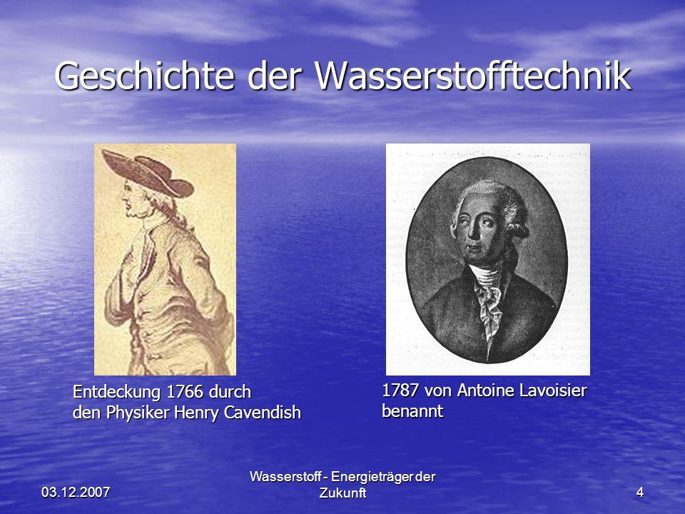 Geschichte der Wasserstofftechnik