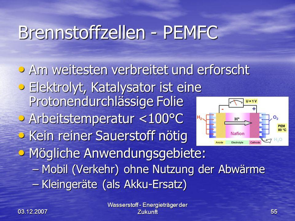 Brennstoffzellen - PEMFC