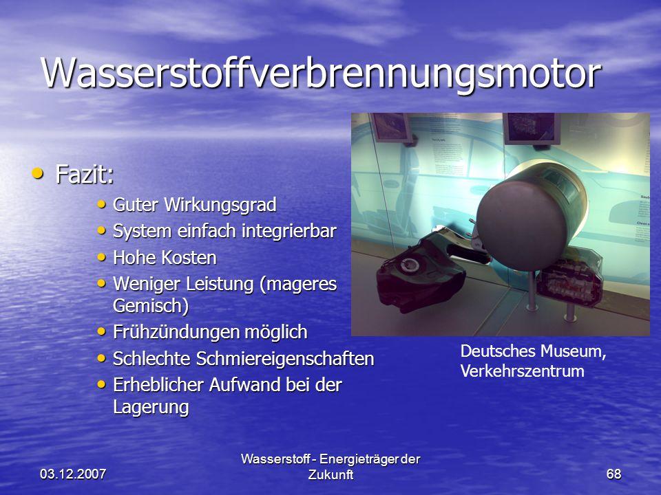 Wasserstoffverbrennungsmotor