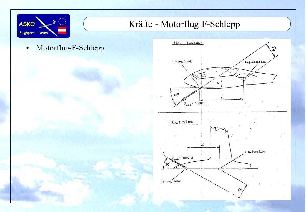Kräfte - Motorflug F-Schlepp