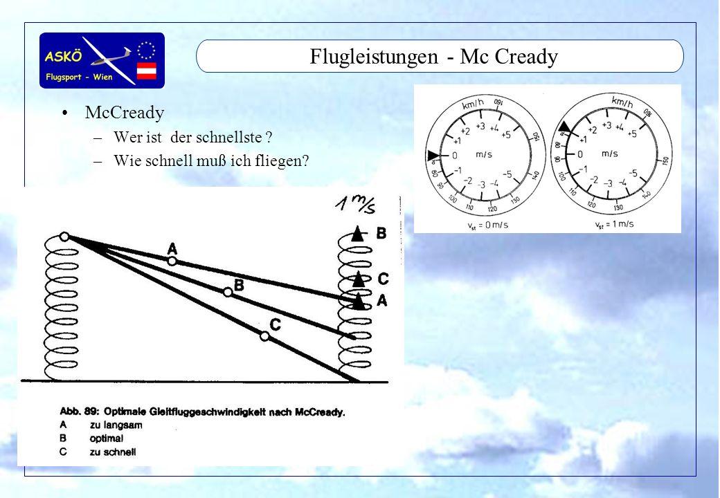 Flugleistungen - Mc Cready