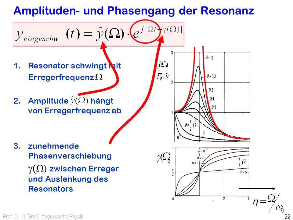 Amplituden- und Phasengang der Resonanz