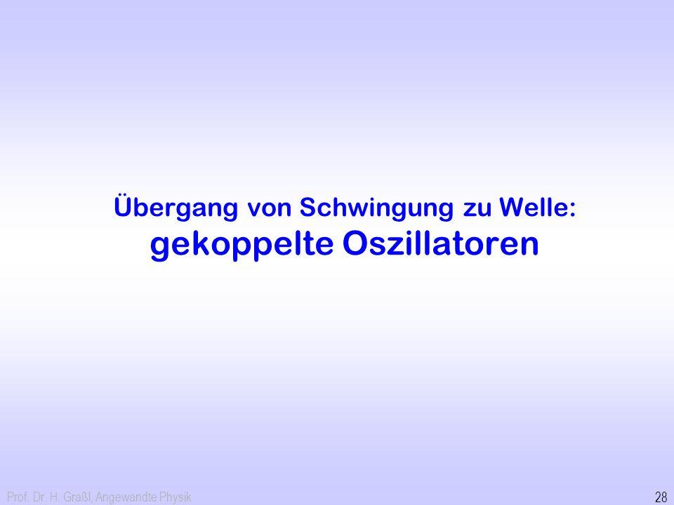 Übergang von Schwingung zu Welle: gekoppelte Oszillatoren