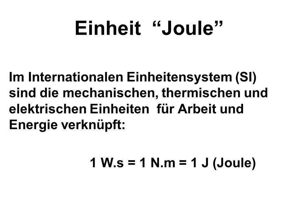 Einheit Joule