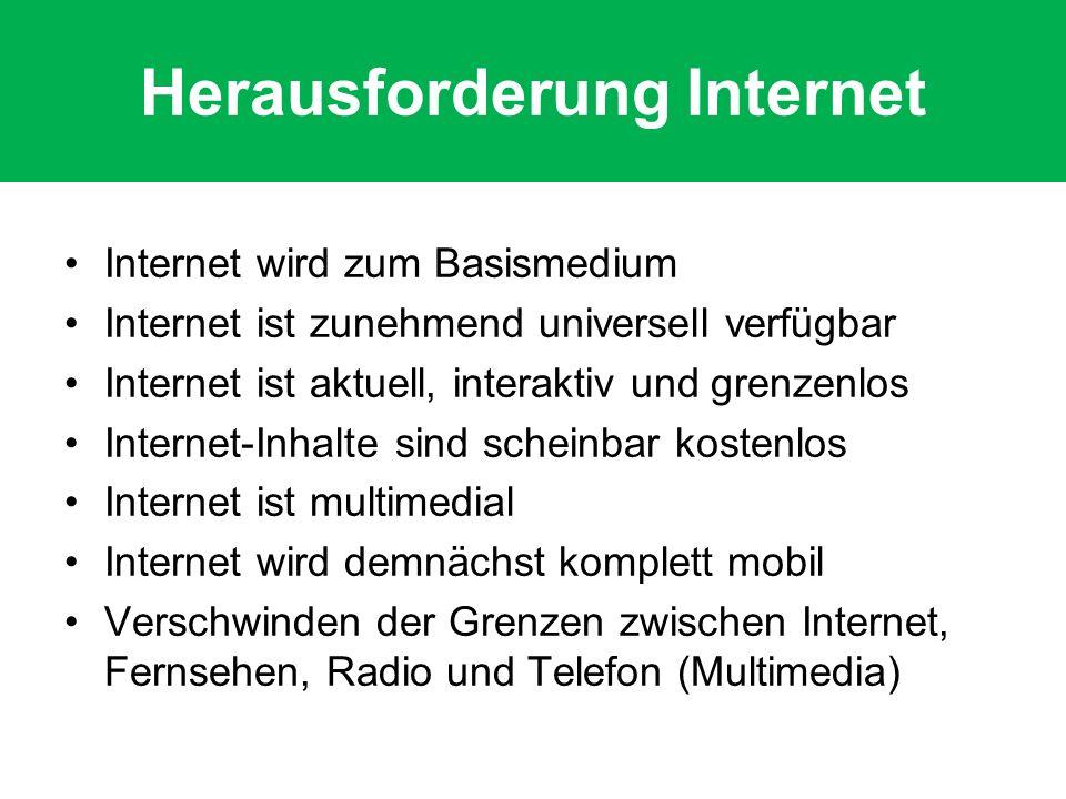 Herausforderung Internet