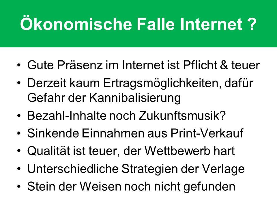 Ökonomische Falle Internet