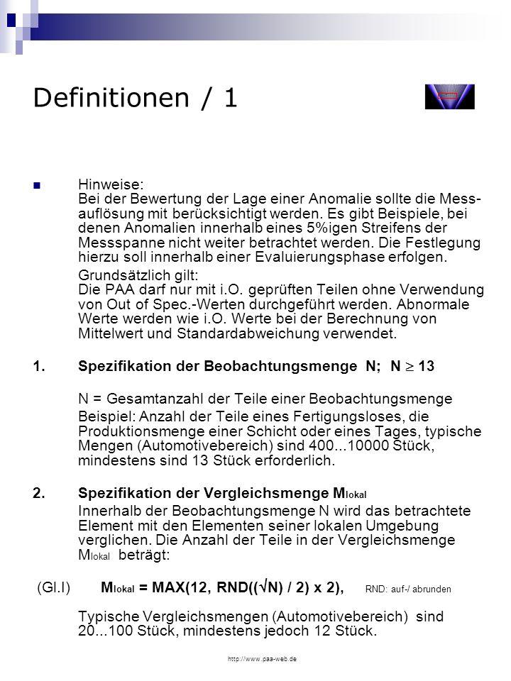 Definitionen / 1