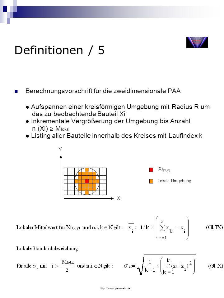 Definitionen / 5 Berechnungsvorschrift für die zweidimensionale PAA