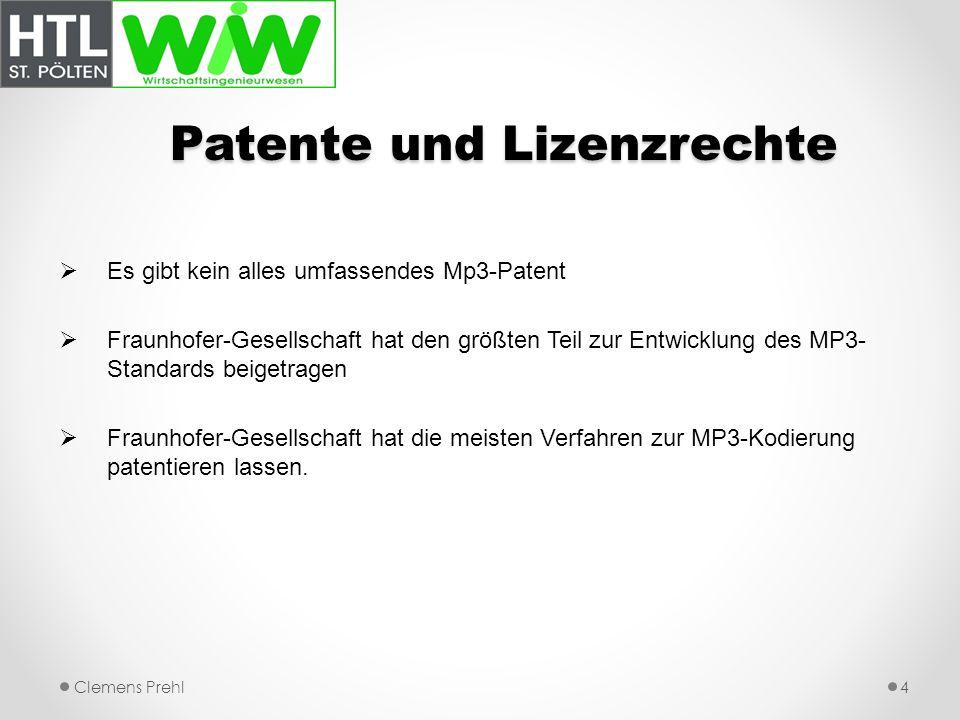 Patente und Lizenzrechte