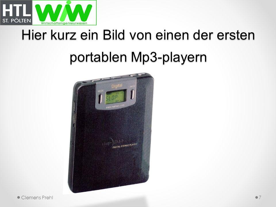 Hier kurz ein Bild von einen der ersten portablen Mp3-playern