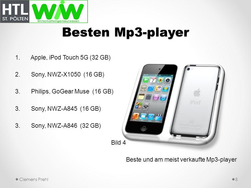 Besten Mp3-player Apple, iPod Touch 5G (32 GB) Sony, NWZ-X1050 (16 GB)