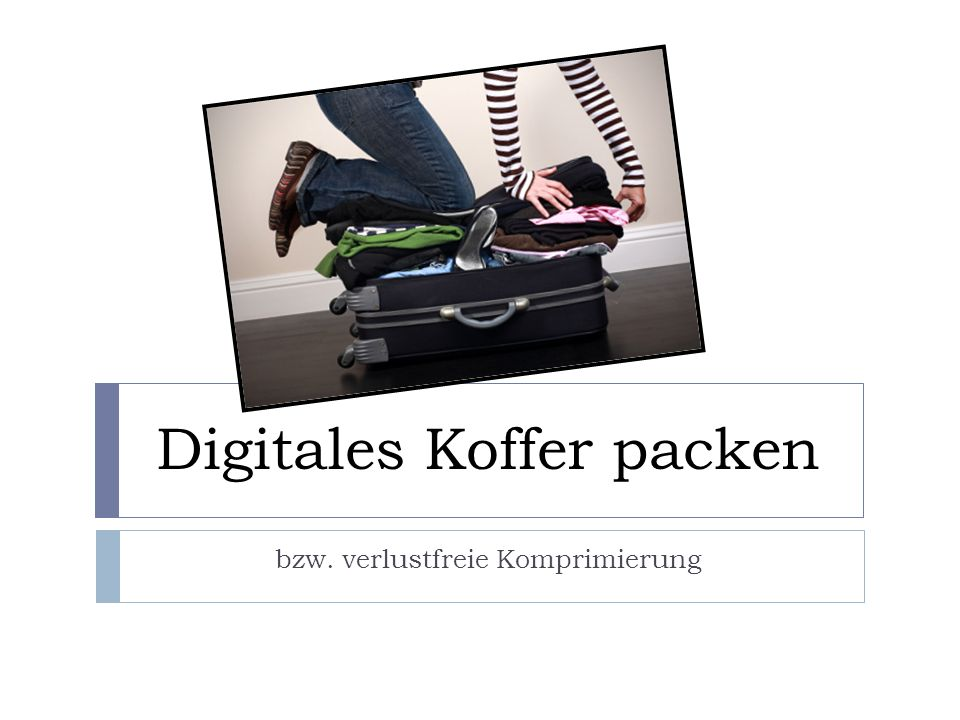 Digitales Koffer packen