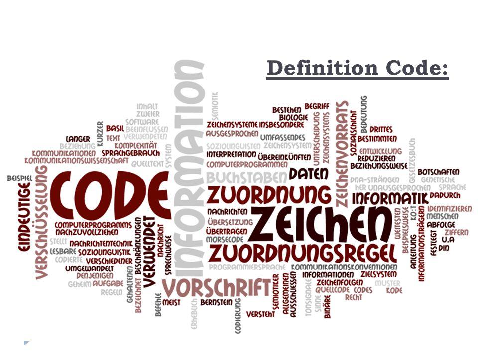 Definition Code: