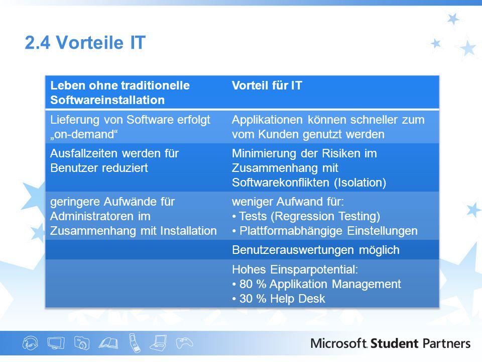 2.4 Vorteile IT Leben ohne traditionelle Softwareinstallation