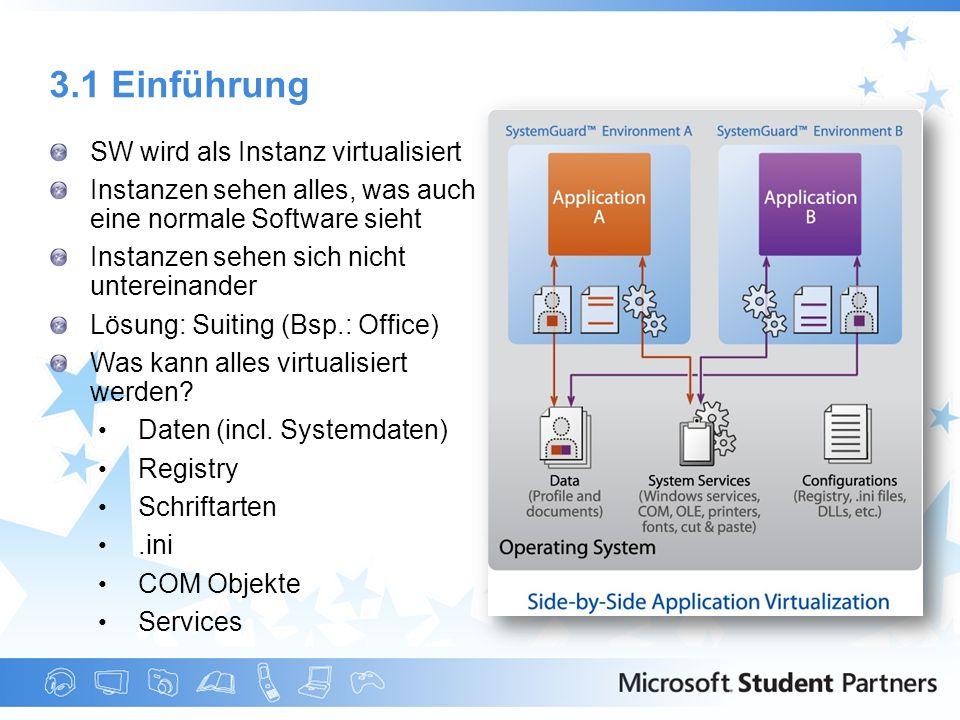 3.1 Einführung SW wird als Instanz virtualisiert