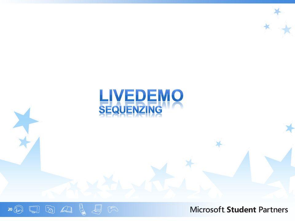 Livedemo SEQUENZING Nun kommt eine LiveDemo des SoftGrid Sequencer.