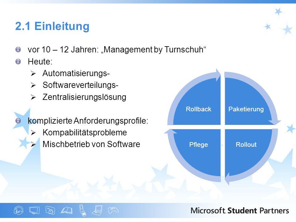 """2.1 Einleitung vor 10 – 12 Jahren: """"Management by Turnschuh Heute:"""