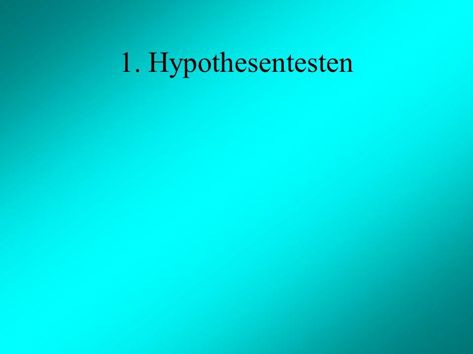1. Hypothesentesten