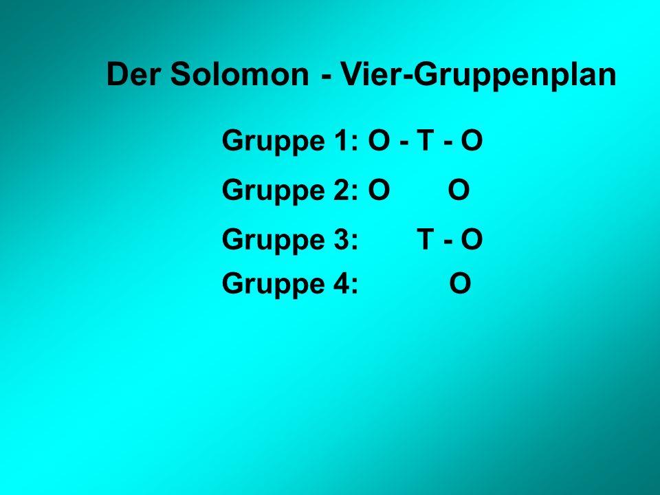 Der Solomon - Vier-Gruppenplan